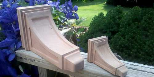 Wooden pedestals, created by CarveTech