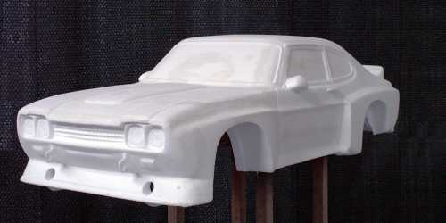 car model in PS foam, created by Protoway