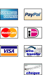 Logos for supported payment methods
