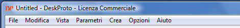 DeskProto menu-bar in Italian