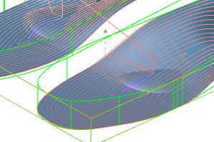 Insole with offset toolpaths