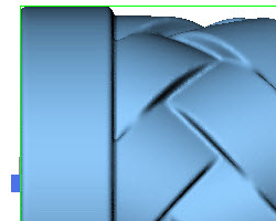 DeskProto screenshot of an STL file, after smoothing