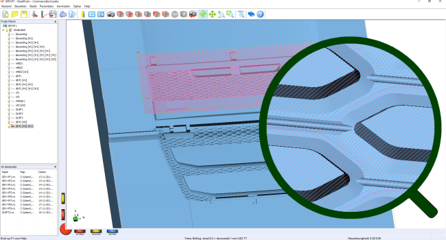 DeskProto screenshot with toolpaths