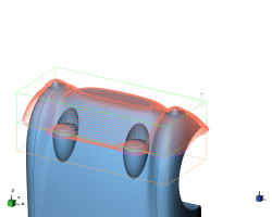 DeskProto screenshot: front-side toolpaths