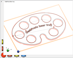 DeskProto screenshot of the Beer-tray DXF pattern