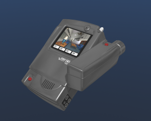 screenshot: presentation rendering of a camera