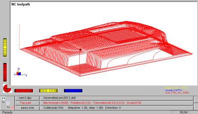 Screenshot of some toolpaths
