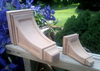 Two carved supports.