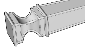 Solid model of a leg in the Moi3D CAD program