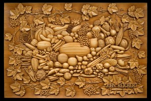 Intricate relief carving