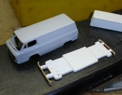 Body and chassis, primed