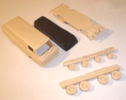 The five parts in the model kit