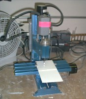 The MaxNC milling machine that has been used
