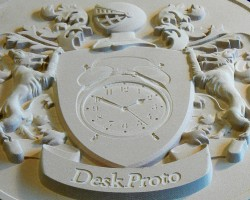 machined Coat-Of-Arms relief