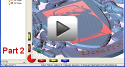 Video that shows creating toolpaths a Coat Of Arms relief, part 2.