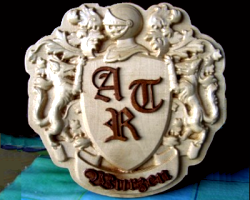 The DeskProto Coat-Of-Arms relief