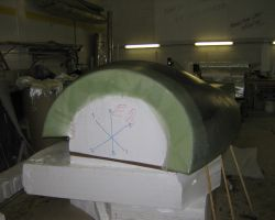 Mould with part