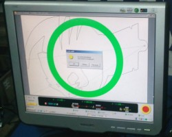 The Kay control software sends the toolpaths to the machine