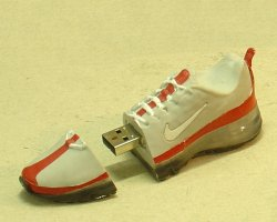 The resulting Nike shoe USB stick