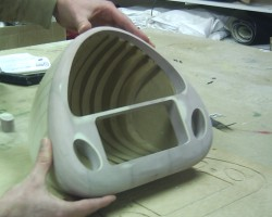 Back and front part after milling and sanding