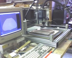 The milling machine in action