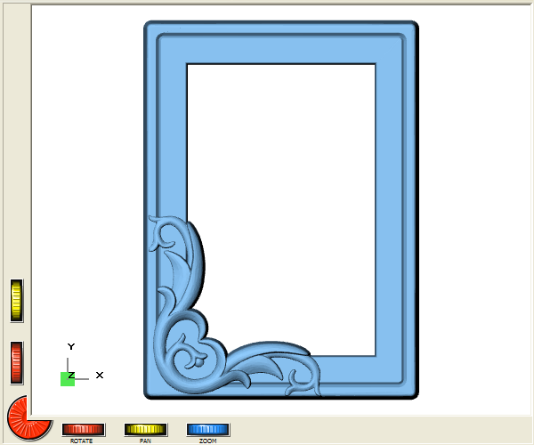 DeskProto screenshot showing this picture frame geometry