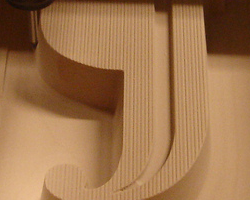 Detail of the machined mold