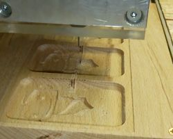 The mold being machined, top view