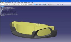 Catia screenshot: same fender, ready for millling