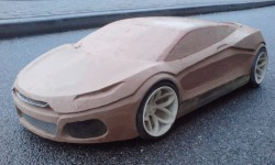 scale 1:4 clay model