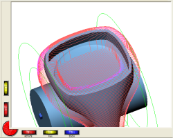 DeskProto screenshot, rotary paths