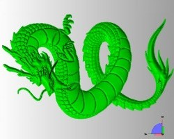 Dragon geometry in 3D CAD