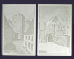 Lithopanes of two city gates