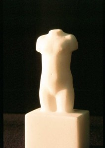 The statue in marble