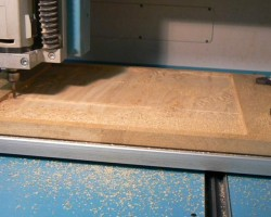 Photo of the roughing process on the machine