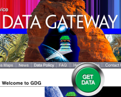 Screenshot of the datagateway website