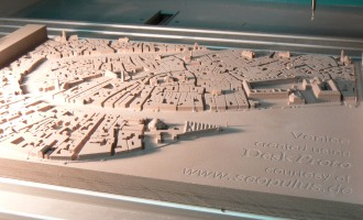 The resulting scale model of Venice center
