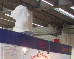 Large Venus sculpture on exhibit at a trade show
