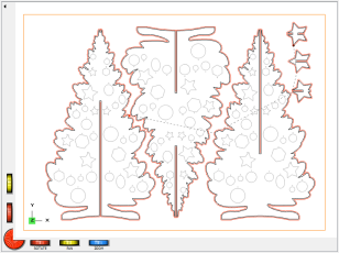 DeskProto screenshot: 2D DXF drawing with toolpaths